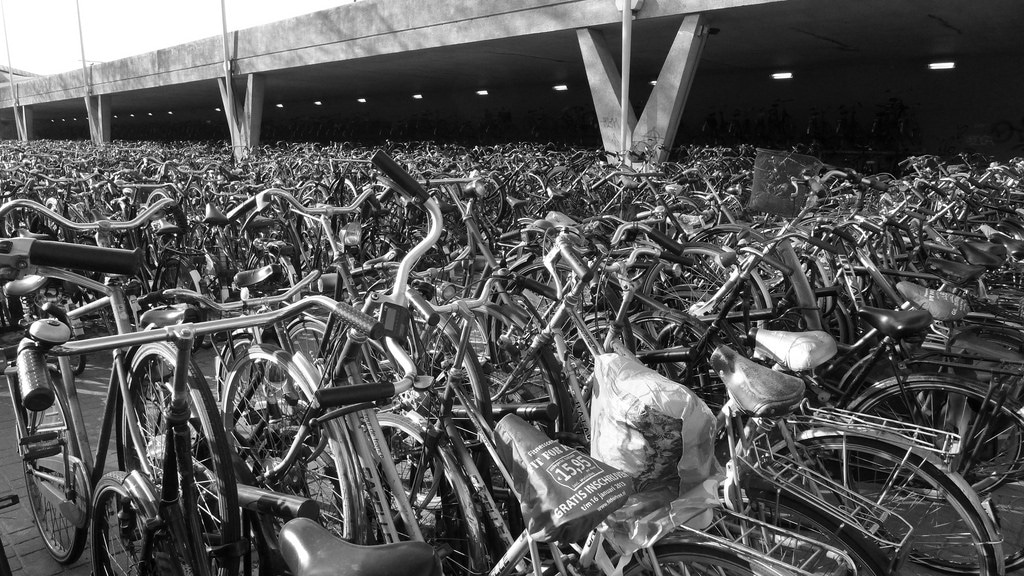 Tilburg - Bicycles at central station