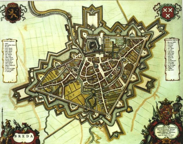 Historical map Breda