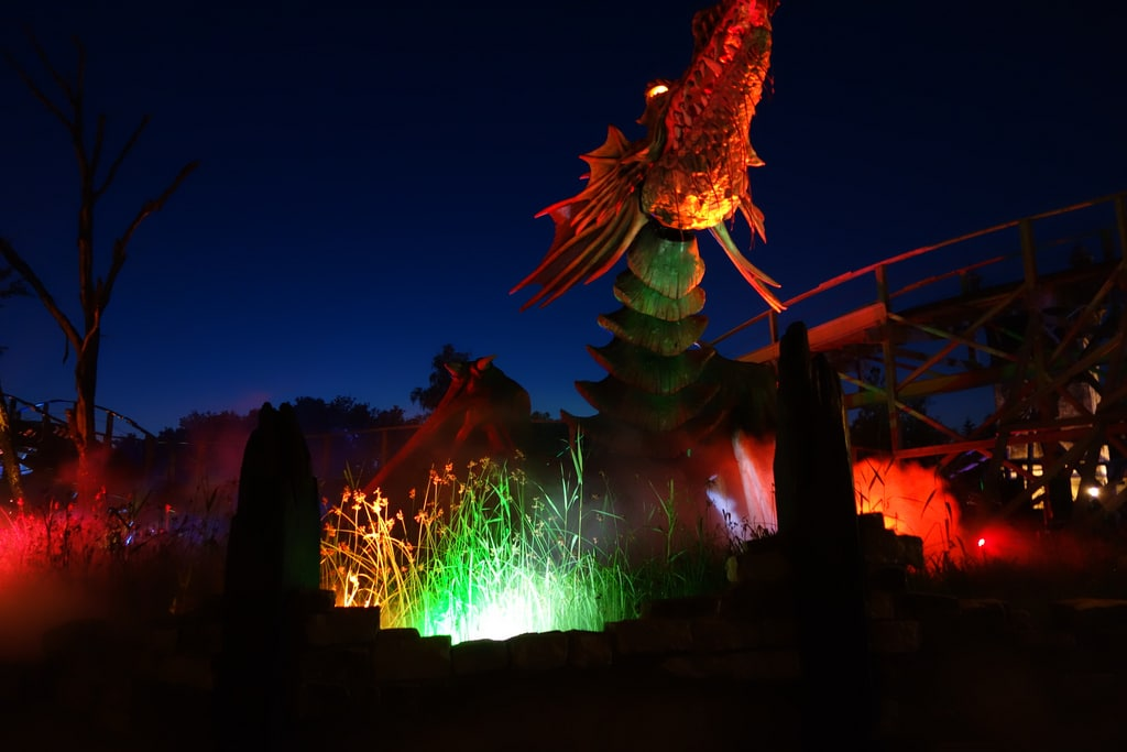Efteling - Dragon with lights