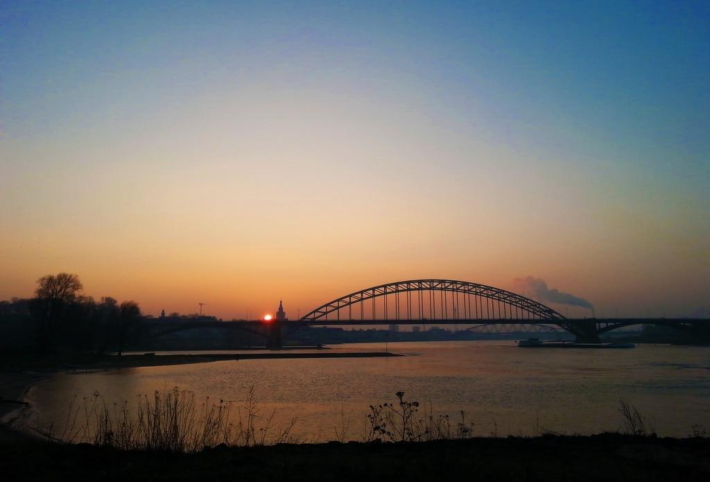 Nijmegen - Evening View by Nils van Rooijen