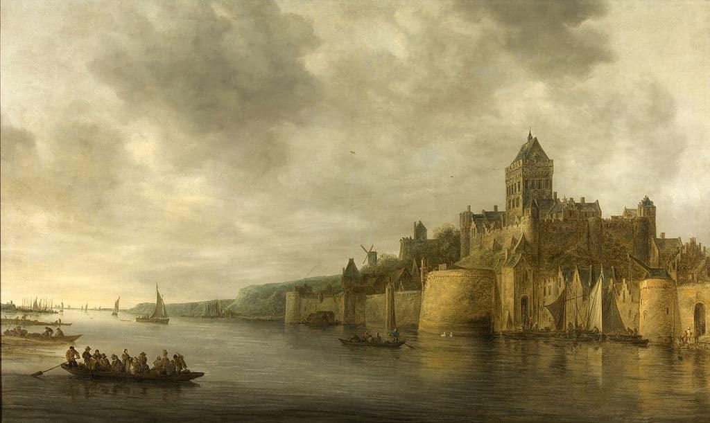 Nijmegen - The Waal river near Nijmegen in 1641