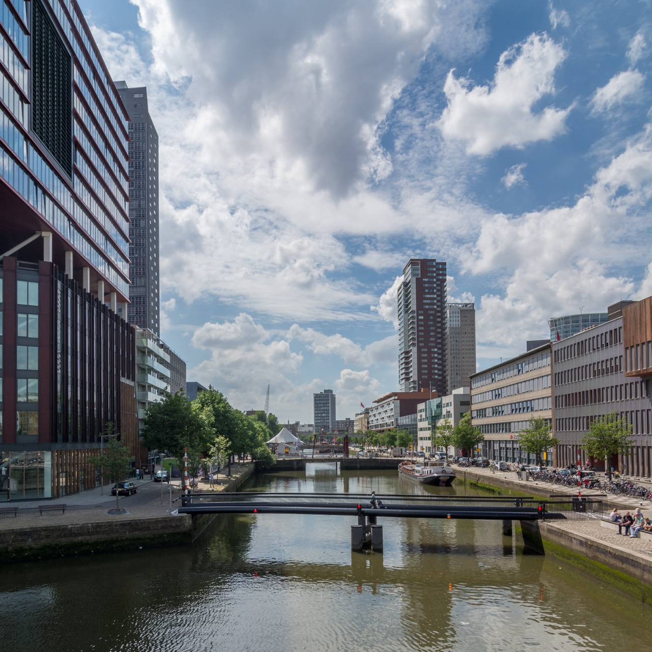 Роттердам - пешеходный мост Роттердам Роттердам (Rotterdam), Нидерланды Rotterdam pedestrian bridge