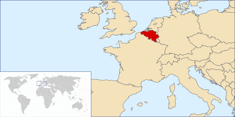 Belgium on the World Map - Netherlands Tourism