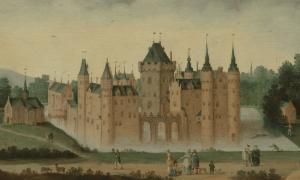 Egmond Castle - Around 1638 by Claes Dircksz. van der Heck