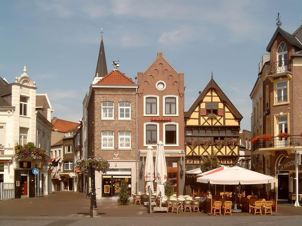 Sittard central square - monumental houses