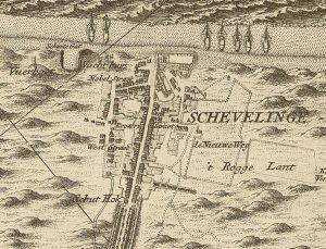 Scheveningen on a map of 17126