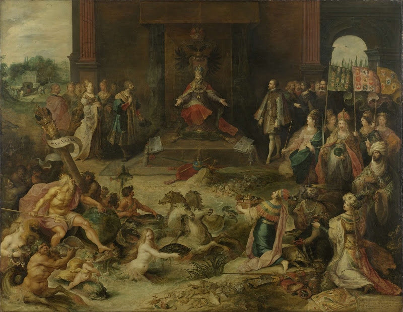 Allegory of the abdication of Emperor Charles V at Brussels, 25 October 1555. Frans Francken (II), c. 1630