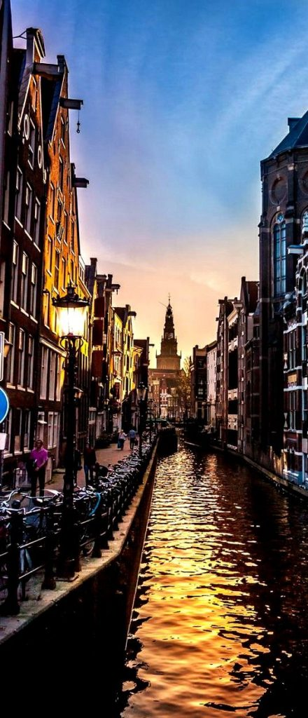 Amsterdam - A beautiful sunset
