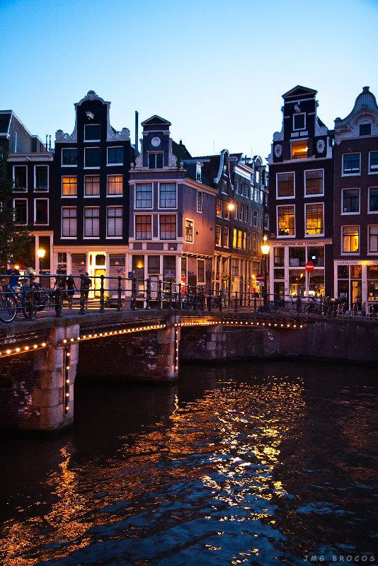 Amsterdam - The lights on the bridges