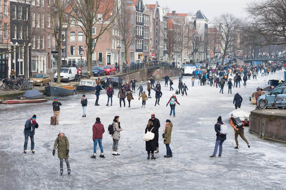 Prinsengracht in Winter